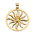 Sun Wheel Pendant w/ Polished Citrine